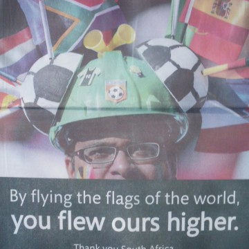 By flying the flags of the world you flew ours higher
