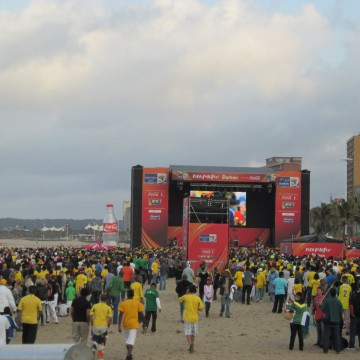 New Beach Fan Fest, Pre South Africa v. France