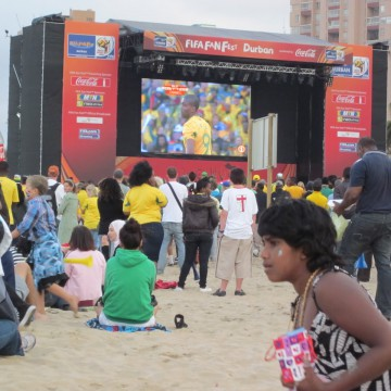 Durban Fan Fest, South Africa v. France